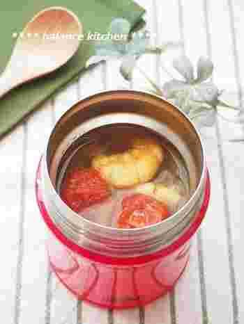 えびの旨味とトマトの甘みで、カレーのスパイシーさが引き立ちます。保温調理なので、えびはパサパサではなくプリっと仕上がっておいしく頂けます。